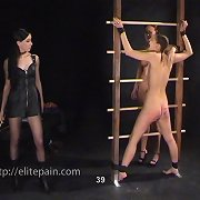 Mistress punished girl and waxed