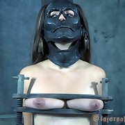 Slave Sister Dee was tormented hard in iron mask