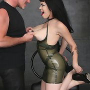 Latex playgirl Gia Paloma sucks, fucks, and receives decadent with Mark Davis in the dungeon