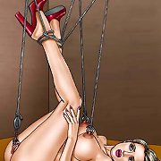 Fantasy art women endure the rack.