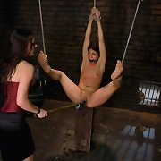 Jade gets worked over by Sinn in raunchy lesbian BDSM!