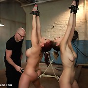 Two unrepining doxies in anal bdsm sex and predicament bondage!