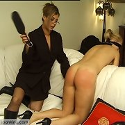 Blindfolded for a ache with the paddle