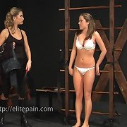 The bound slavegirl got whipped brutally