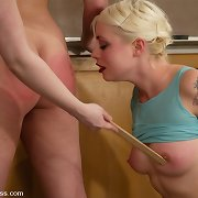 Bottom whipping of two sexy schoolgirls