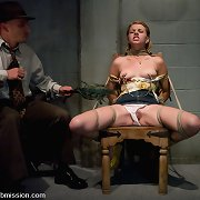 Inmate gal bound, gagged and fucked