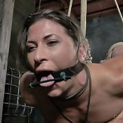 The fetish models getting filmed in bondage