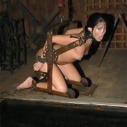 He whips her then gags her with his cane until drool spews down the shaft.