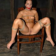 Cheyenne\'s body is twisted and knotted into five fuckable positions, but this babe squirms and fights.