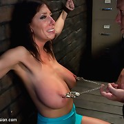 Huge Tit mother i\'d like to fuck punished and wazoo fucked in bondage for being a slut!