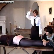 Brutal butt caning