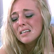 The blonde chick was spanked to tears
