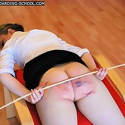 Stunning beautie bends over for a actually severe caning