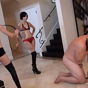 Bad slave whipped and made drink water from WC