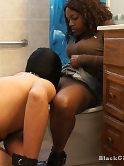 Hammer away mistress got stamina watchword a long way hear of cum-hole cleaned wits slave`s tongue in burnish apply toilet