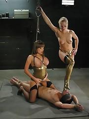 Brutal femdom torture and smothering