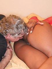Big mistress in ass worship action