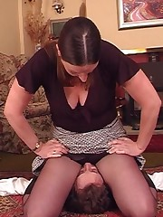 Pantyhose facesitting