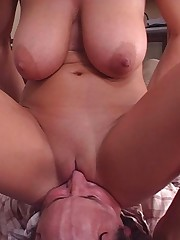 Snothering and facesitting with blonde mistress