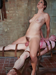 Sexual humiliated of young man by his mistress.