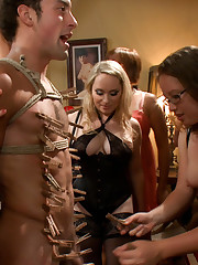 Mistress tormented and facesitted boy on femdom pary