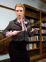 Bad boy gets fucks by sadistic librarian