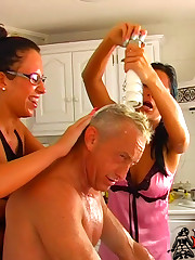 Sadistic kitchen humiliation with Jenny