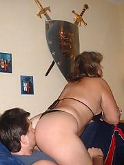 Big great mistress on slave's face