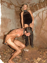 Kinky outdoor games with a naked slave make this mistress unleash her wildest femdom urges