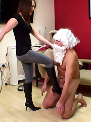 The Santa slave was punished