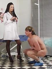 Two med ladies break their male patient