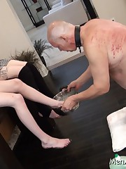 Mistresses prefer to have feet washed by slaves