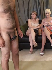 Four chicks humiliating a very obedient male sub