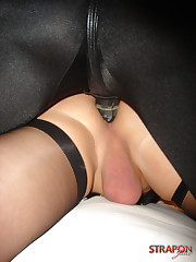 Sissy man was fucked in ass by strapon