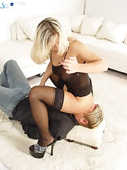 Real facesitting with blonde mistress