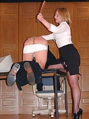 Lady boss punishes slaveboy