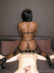 A black girl sitting on slave