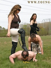 Two males were punished outdoor