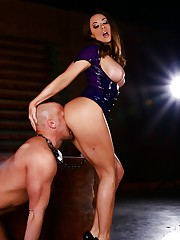 Mistress Chanel Preston orders her bondman to worship her ass