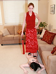 Domestic whipping and feet licking