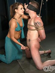 Mistress abuses slave