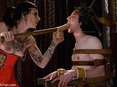 Mean Bitch Mistress demands to Ass Fuck her slave
