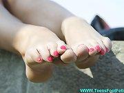 Gorgeous teen legs
