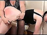 Anita plump bare bottom was given a sound thrashing with the Hairbrush