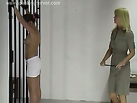 Lesbian spanking in prison