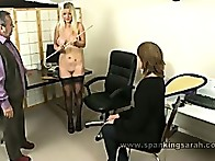 Jessica like to bend over and be caned on her bare bottom