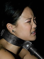 Steel bondage for hapless slavegirl