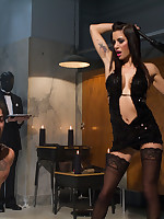 Slay rub elbows with lady dominated will not hear of husband by cuckolding and flogging and strapon