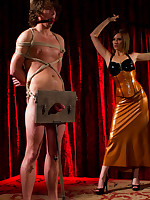 Three fetish dominatrixes fucked and humiliated a related
