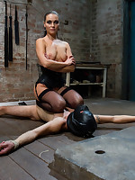 Severe CBT and pegging for male slave from Mistress